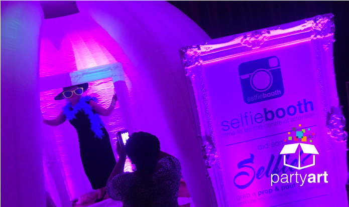 Selfie booth event hire