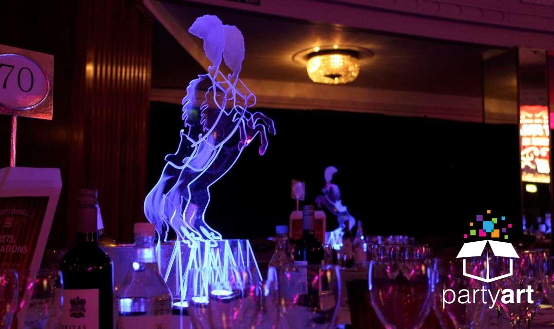 LED circus table centrepieces