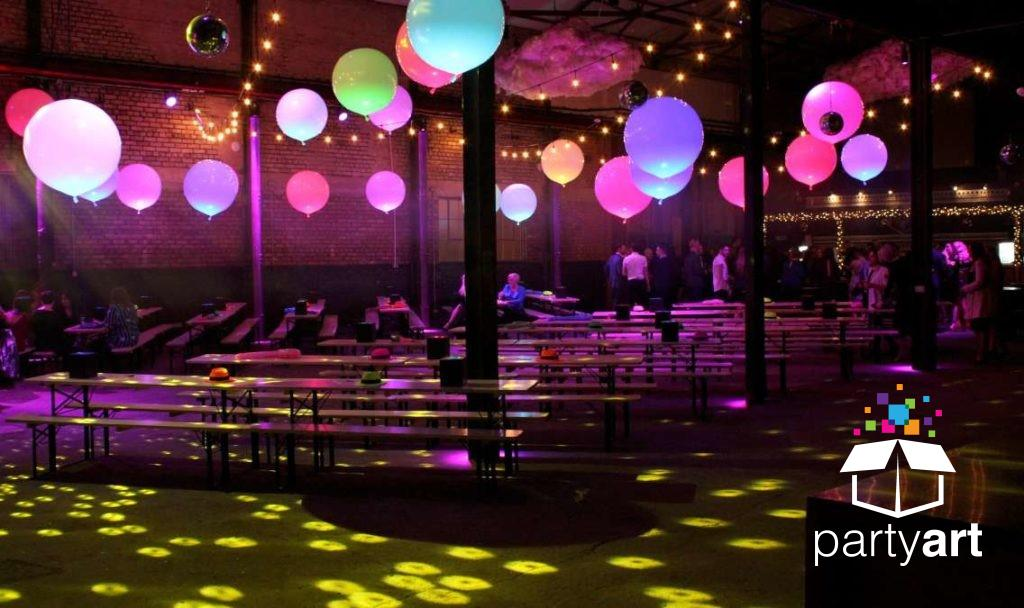 Glow Bubbles in a Bar/Bat Mitzvah party