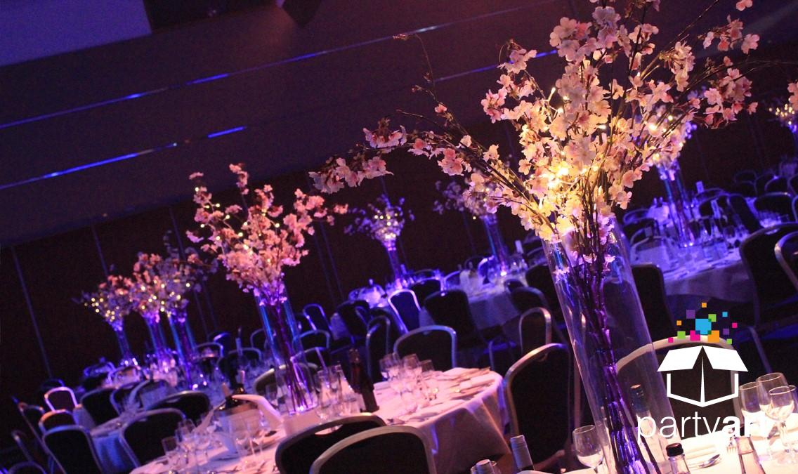 event tree hire table centres