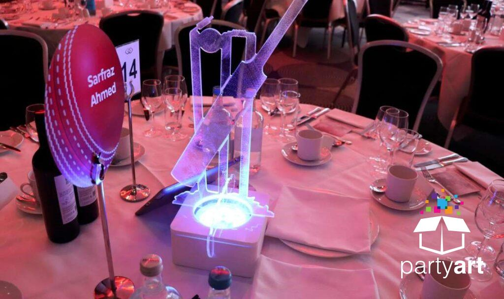 cricket led table centres