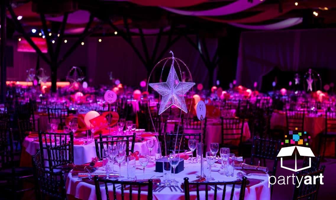 star loop led centrepiece hire