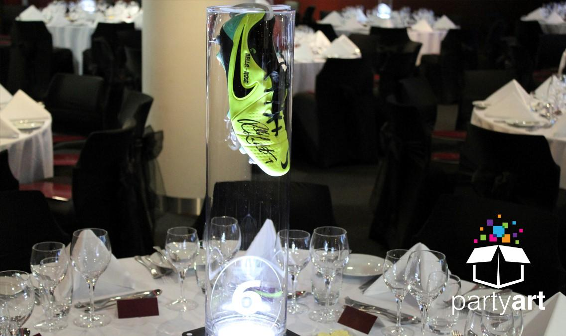 led football centrepieces hire