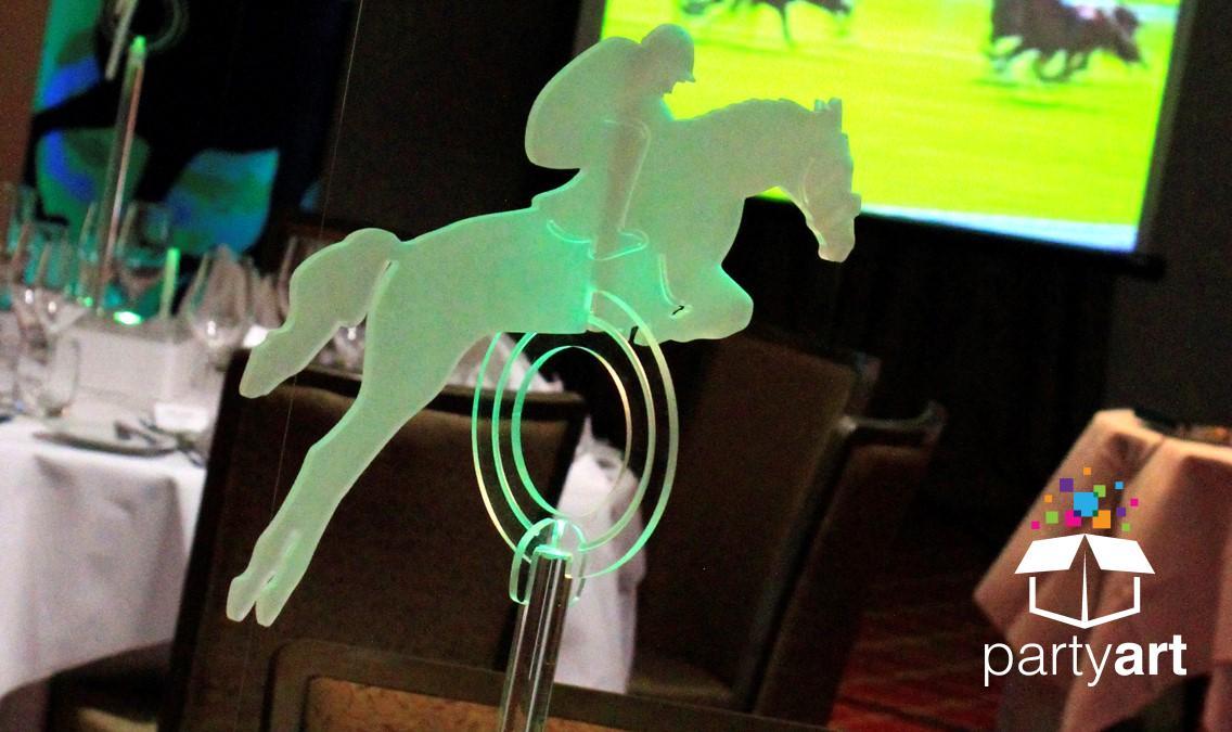 horse riding party centrepieces