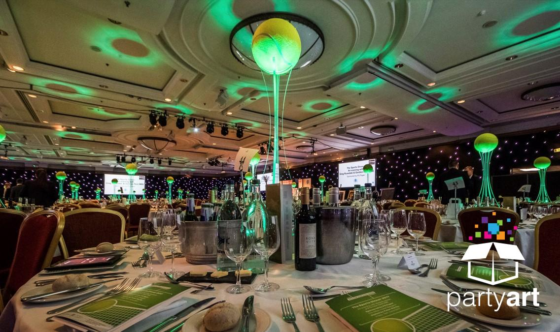 led sports centrepieces hire