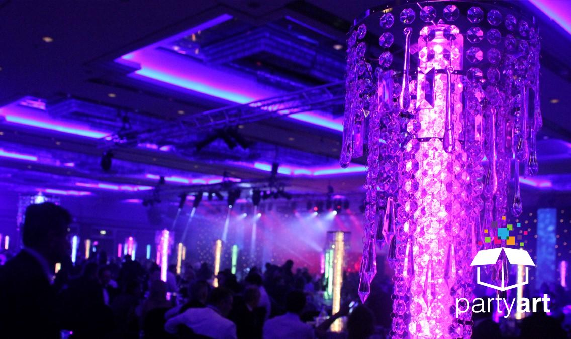 wedding led centrepieces hire