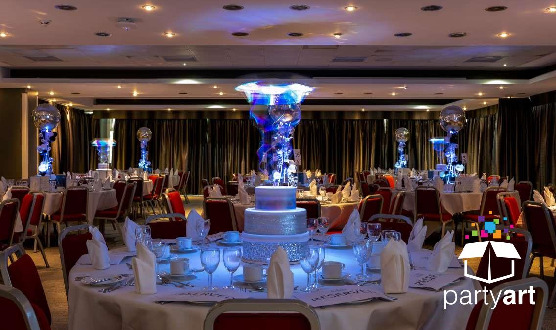 birthday cake rotating led centrepieces