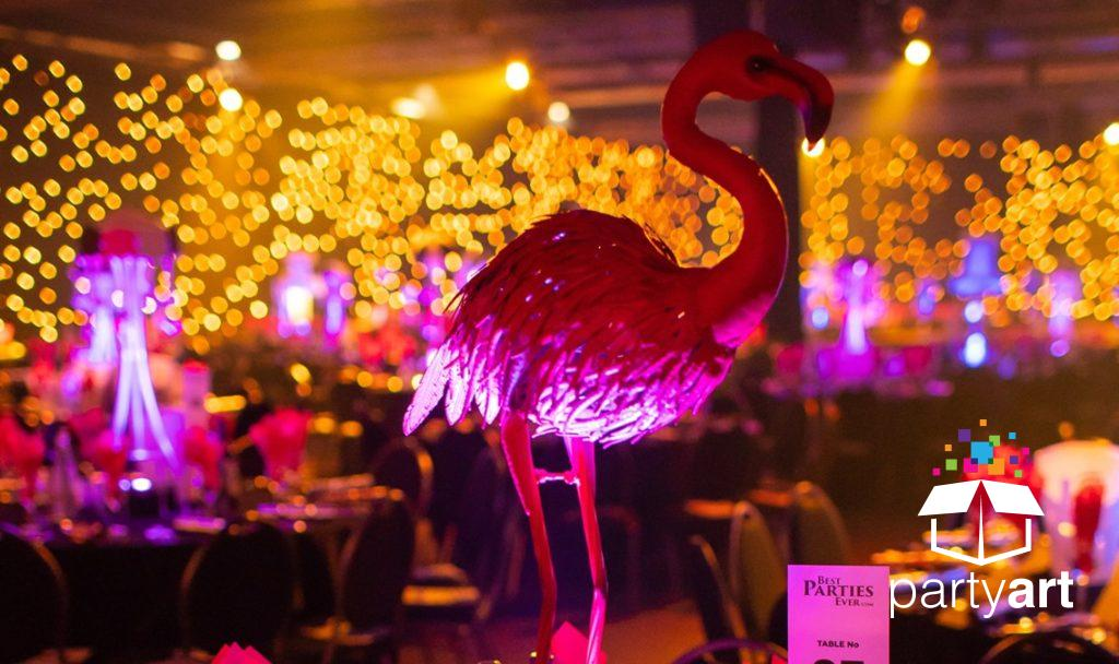 animal lit table centres