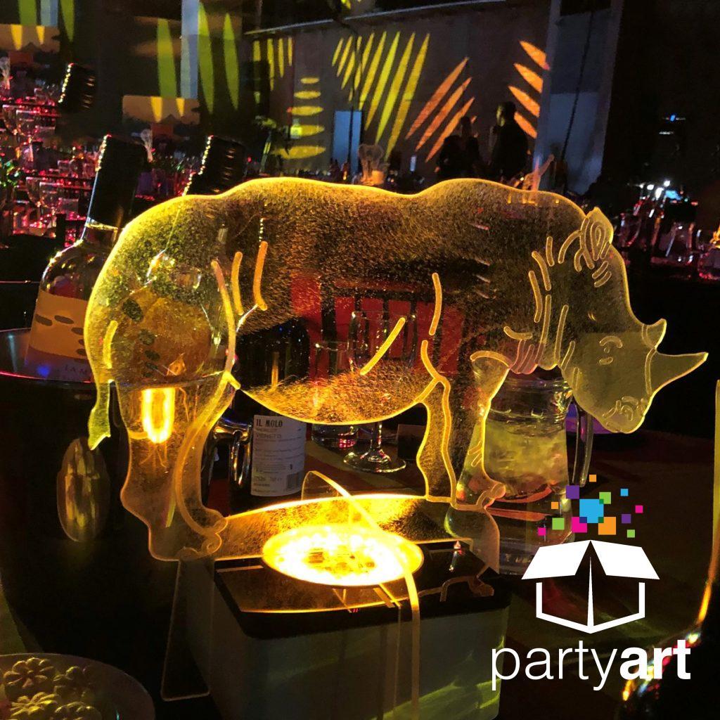 rhino safari table centre.