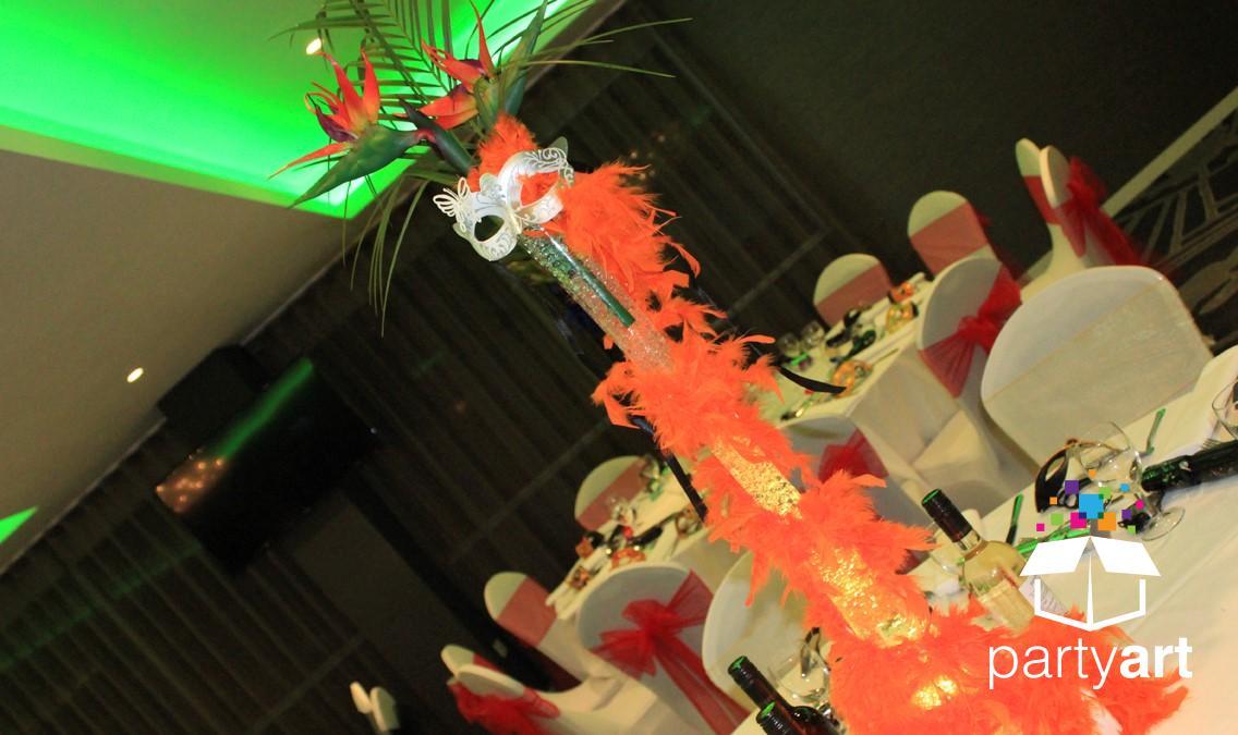masquerade ball table centres