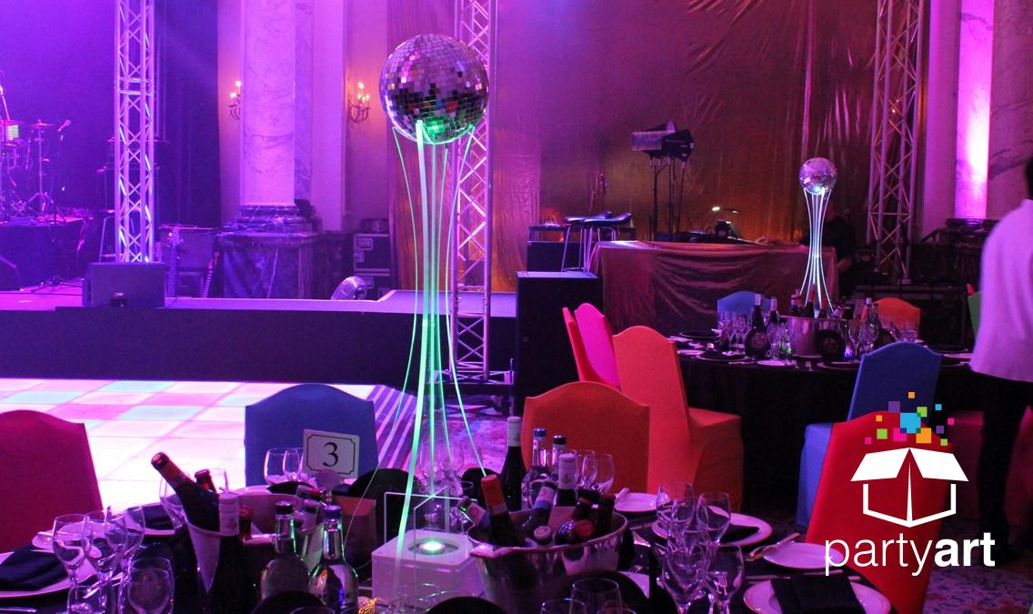Disco Ball table centre pieces