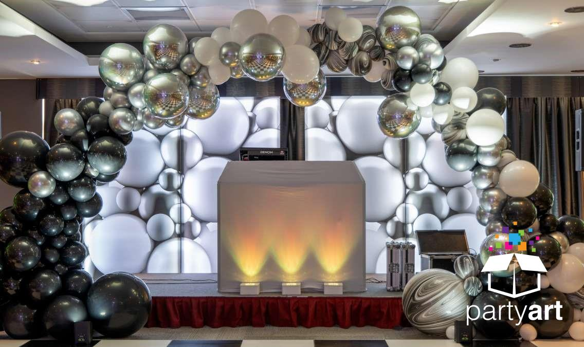 Graduation party balloon arch hire