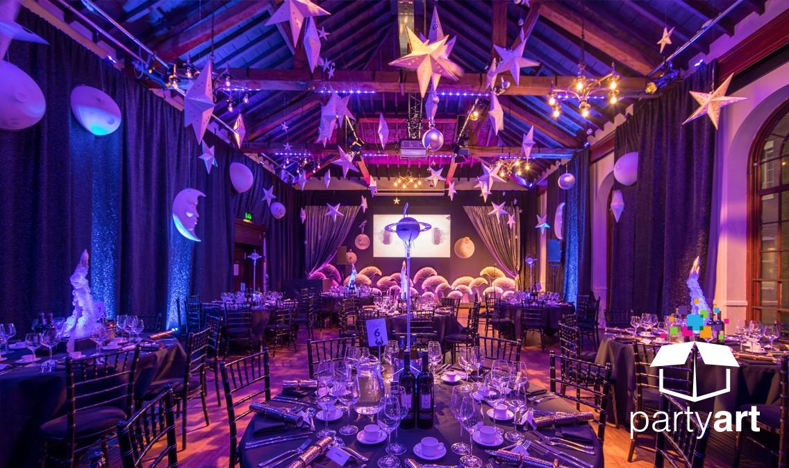 space themed event styling
