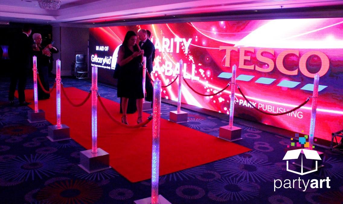 red carpet entrance hire