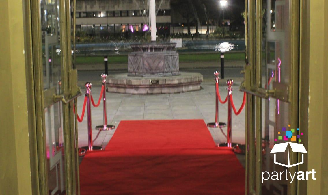 red carpet chrome posts hire